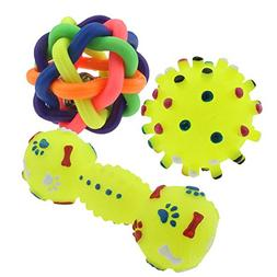 BECKY,Set of 3 Toy Dogs and Cats Puppies - Top Cool Rubber D