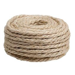 "CAT SCRATCHING POST - Replacement Sisal Rope: 3/8"" x 50'"