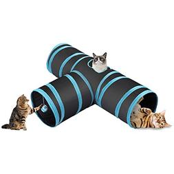 CO-Z Collapsible 3 Way Cat Tube Kitty Tunnel Bored Cat Pet T