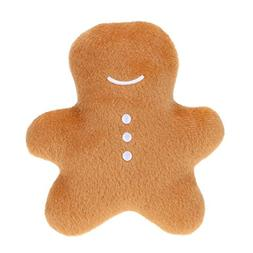 Jocestyle Pet Chew Toys Gingerbread Man Shaped Cat Dog Chew