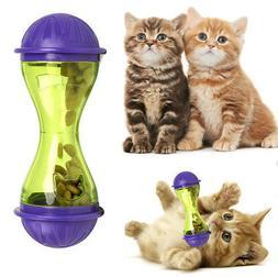 Cat Dog Feeder Plastic Funny Pet Food Dispenser Treat Ball P