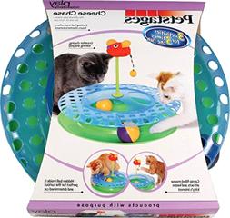 Cat Toy,Cheese Chase Cat Play Station Ball & Track Toy for C