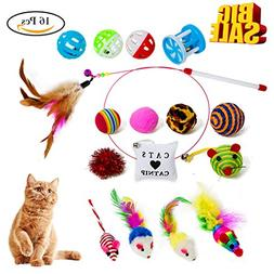 Cat Toys Interactive Feather Cat Wand Teaser and Exerciser f