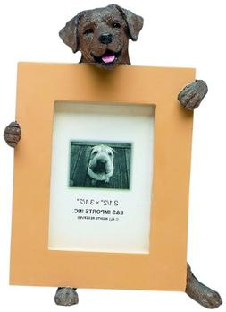 Chocolate Lab Picture Frame Holds Your Favorite 2.5 by 3.5 I