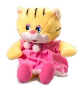 Cute Kitten in a Pink Dress Talking Plush Toy