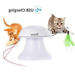 DADYPET Cat Laser Toy, 2 in 1 Automatic Non-Handheld Cat Cha