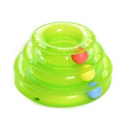 Norbi Funny Pet Cat Crazy Ball Disk Amusement Plate Trilamin
