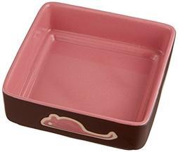 Ethical Pet Products  CSO6928 Four Square Ceramic Cat Dish,