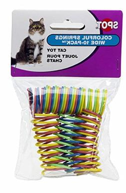 Ethical Pet Spot Colorful Wide Cat Springs 10 Pk Roll & Chas