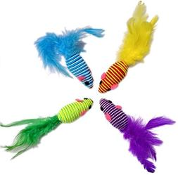 HDP Hypno Mice with Feather tail Size:Pack of 8