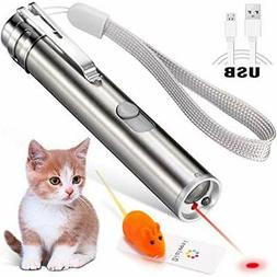 Laser Pointer For Cats USB Rechargeable, Cat Dog Interactive