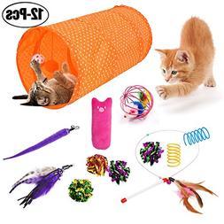 Legendog Cat Toys, Interactive Feather Cat Toy Ball Sisal Mi