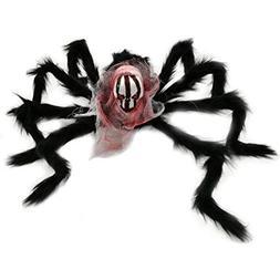 Livoty Halloween Super Large Simulation Ghost Head Plush Spi