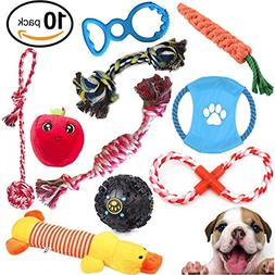 Mystic Soul Dog Chewable Toys Set - Gift Pack of 10 Resistan