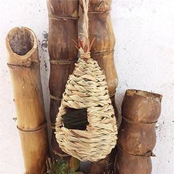 Nest Bird Cages Natural Grass Woven Bird House Practical Bre
