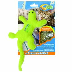 OurPets 100-Percent Catnip Filled Lizard Cat Toy, Groovy Gec
