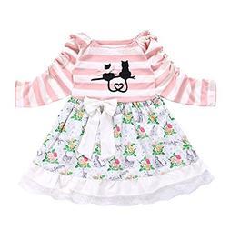 PLENTOP Clearance!Baby Girl's Clothes Long-Sleeved Cartoon C