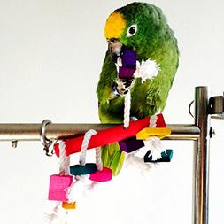 Parrot Cockatiel Parakeet Playing Toys Colorful Bird Cages C