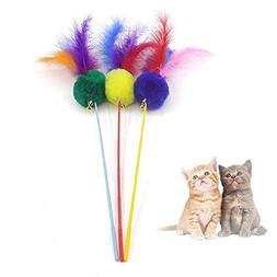 Pawaca Cat Toys Feather Refills for Cat Wand Toys Interactiv
