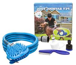 Pet Bathing Tool Set with Flea Comb | Shower Sprayer with Si