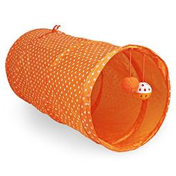 Pet Cat Tunnels Toys Foldable Cat Tent with Built-in Small P
