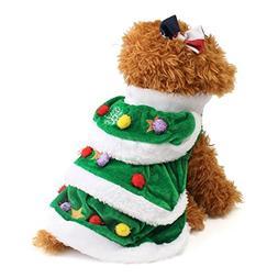 Pet Costume HCFKJ Christmas Tree Pet Dog Cat Coat Puppy Swea