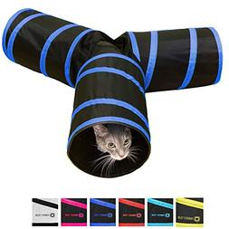 Purrfect Feline Tunnel of Fun, Collapsible 3-way Cat Tunnel