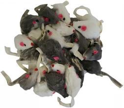 Real Rabbit Fur Mice Cat Toys 24-pack