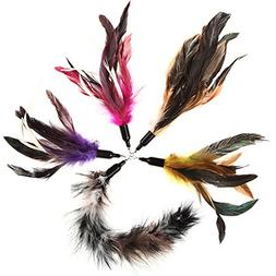 Replacement Feathers 5 Pack, Plus Bonus Soft Furry Tail For
