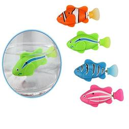 Set 4 pieces Cat Toy Electric Bionic Robot Fish with Smart S