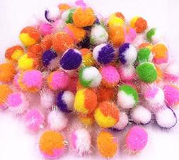 TECH-P Creative Life 2 Color In 1 Ball Pet Toy Balls Pom Pom