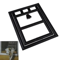 TTnight 2-Way Locking Cat Door, White ABS Lockable Pet Door