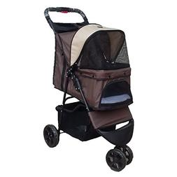 Three Wheels Pet Stroller Lightweight Folding Breathable Car