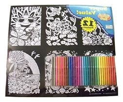 Velvet Fun Coloring Art 12 Pack with Markers ~ Animal Advent