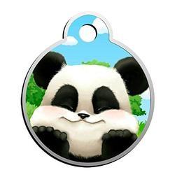 XInhaoLEI Cute Panda Dog Tags Cat Tags Personalized Double S