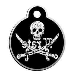XInhaoLEI Pi Rate Skull Dog Tags Cat Tags Personalized Doubl