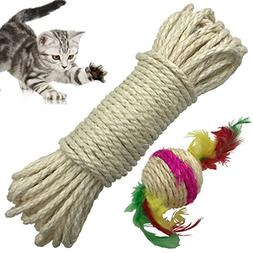 Yangbaga Cat Natural Sisal Rope for Scratching Post Tree Rep