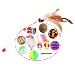 Yinrunx 12 Variety Small Mini Playing Mouse Toys Gift for Ca