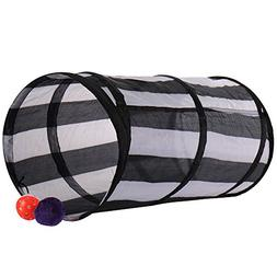 Yunt Cat Tunnel,Crackle Play Toy,Collapsible Chute Fun for R