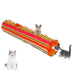 Yunt Cat Tunnel Toy, Collapsible Pet Tunnels and Tubes with