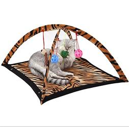 MEIQI Activity Center Play Mat with Hanging Mice and Balls C