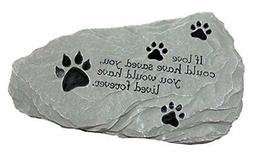All Weather Pet Grave Memorial Stone Marker for Your Dearly