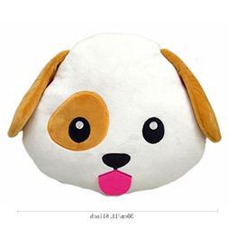 Thenese Animal Emoji Smiley Emoticon Round Cushion Pillow St