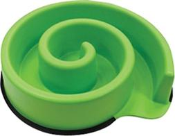 Ethical Pets Animal Instincts Slow Feed Dog Bowl, Green
