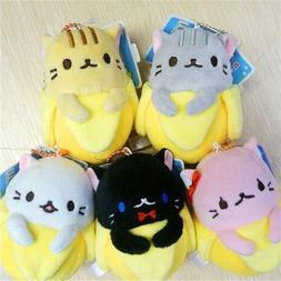 Anime Bananya Banana Cat Plush Toy Soft Stuffed Animal 9cm K