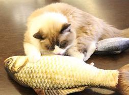 Artificial fish shape simulation plush pet <font><b>cat</b><