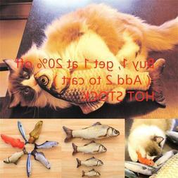Artificial Fish Stuffed Pet Cat Toys Catnip Interactive Chew