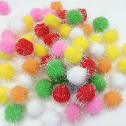 10pc Assorted Color Pom Pom Balls My Cat's All Time Favorite