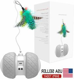 Automatic Cat Toys Interactive Cat Feather Toys, Pet Electri
