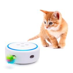 Automatic Interactive Cat Toy with Random Rotating Feather E
